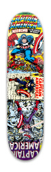Captain America Three Covers Park Skateboard 7.88 x 31.495