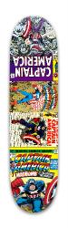 Captain America Comic Covers Park Skateboard 7.88 x 31.495