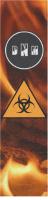 Toxic fire Custom longboard griptape