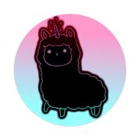 Llamacorn Sticker 4 x 4 Circle