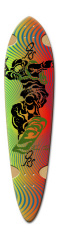 One Run Sports Longboard Dart Dart Complete Skateboard Deck v2