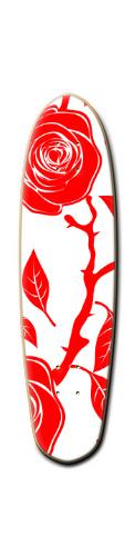 RED ROSE Custom Riviera Anatomy of a Skateboard 8 x 30
