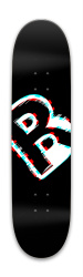 BlackGlitch Park Skateboard 8 x 31.775