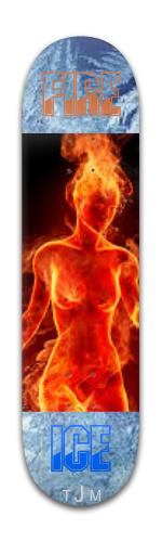 Dance Of Fire Banger Park Skateboard 8 x 31 3/4