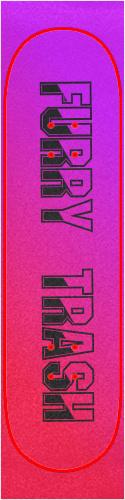 Furry Trash Custom skateboard griptape