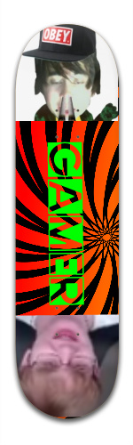 THE GAMER BOARD Banger Park Complete Skateboard 8.5 x 32 1/8