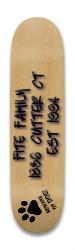 fite family Park Skateboard 8.25 x 32.463
