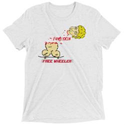 FoReSKin Free Wheeler Custom T Shirt - Tri Blend (White Fleck)
