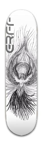 Epic rainow fire feather sketchy Banger Park Skateboard 8 x 31 3/4