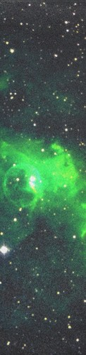 Green Nebula Custom longboard griptape