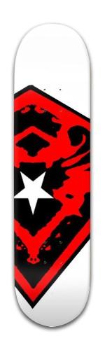 White Star Banger Park Skateboard 8 x 31 3/4