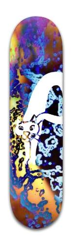 """""""White Kat"""" Banger Park Skateboard 8 x 31 3/4"""