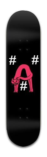"""#A#"" Banger Park Skateboard 8 x 31 3/4"