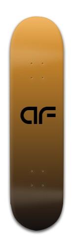 """""""AF black gold"""" Banger Park Skateboard 8 x 31 3/4"""