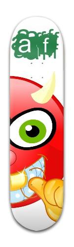 """""""gold tooth AF"""" Banger Park Skateboard 8 x 31 3/4"""