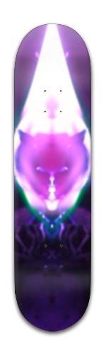 """flaming cat"" Banger Park Skateboard 8 x 31 3/4"