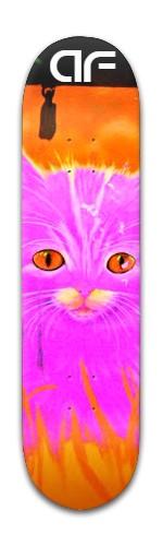 """""""af pink kitty"""" Banger Park Skateboard 8 x 31 3/4"""