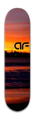 """""""af sunset"""" Banger Park Skateboard 8 x 31 3/4"""