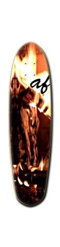 "af ""infinite reflection' Custom Riviera Anatomy of a Skateboard 8 x 30"