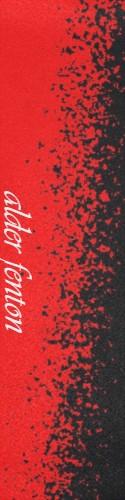 painted red grip Custom skateboard griptape
