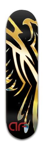 af Gold Phoenix Banger Park Skateboard 8 x 31 3/4
