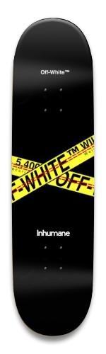 VLone X Off-White X Inhumane Park Skateboard 8.5 x 32.463