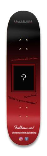 Frame of Mind Clothing board Park Skateboard 8.25 x 32.463