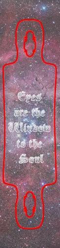 Eyes are the Window to the Soul Gri Custom skateboard griptape