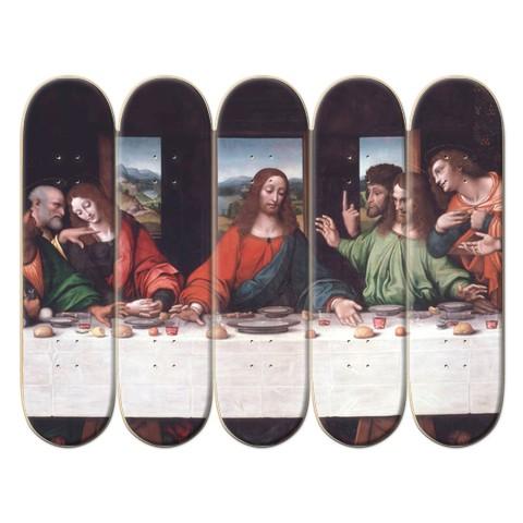 5 Deck Custom Skateboard Mural