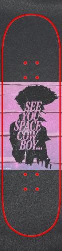 Pink Cowboy Bebop Griptape Custom skateboard griptape