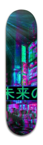 Old blue night Banger Park Skateboard 8 x 31 3/4