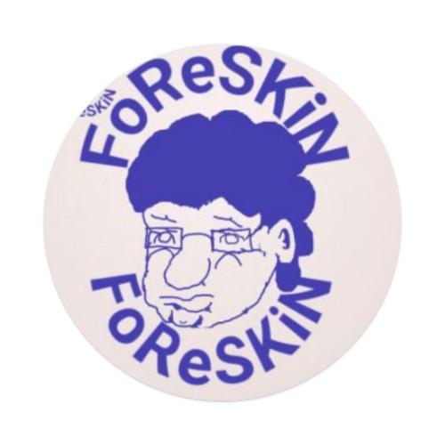 Foreskinblueroundsticker Sticker 4 x 4 Circle