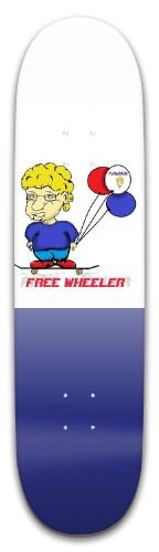 'white & Blue Freewheelerforeskin Park Skateboard 8 x 31.775