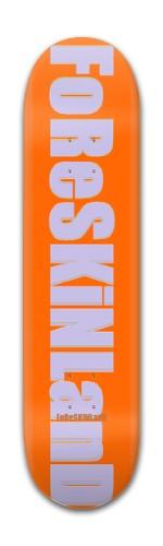 foreskinland silver death Banger Park Skateboard 7 7/8 x 31 5/8