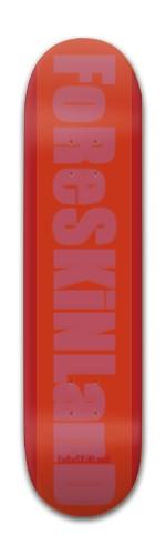 foreskinland red Banger Park Skateboard 7 7/8 x 31 5/8