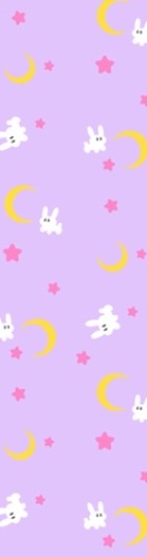 Bunnies + Moons Custom Skateboard Griptape 9x34 in.