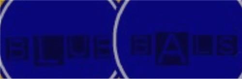 Blue Bals Sticker 11.5  x 3.75 Bumper Sticker