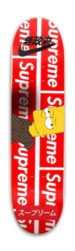 The Simpson's x supreme x nike Park Skateboard 7.88 x 31.495