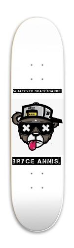 Punk Bear bryce annis signature Park Skateboard 7.88 x 31.495