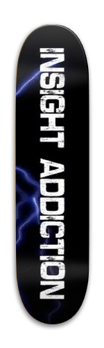 Insight Addiction Logo Park Skateboard 7.88 x 31.495