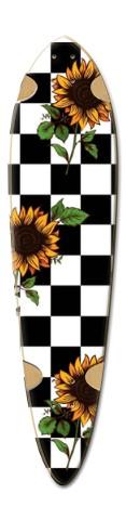 checkers Dart Skateboard Deck v2