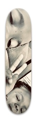 Black and White Park Skateboard 7.88 x 31.495