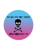 Shred Till your dead skateboards nz Sticker 4 x 4 Circle