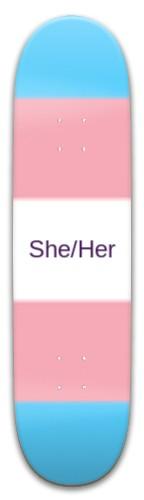 Transgender flag Skateboard 32.25 x 8.125