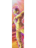 Golden Frieza Custom skateboard griptape