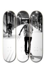 3 Deck Custom Skateboard Mural