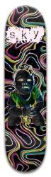 Sky Colorful Sorbel Skateboard 32.25 x 8.125