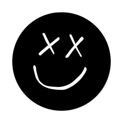 sm8ley Sticker 4 x 4 Circle