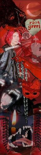 Red Cobain Custom Skateboard Griptape 9x34 in.