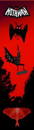 Red Mothman Custom Skateboard Griptape 9x34 in.